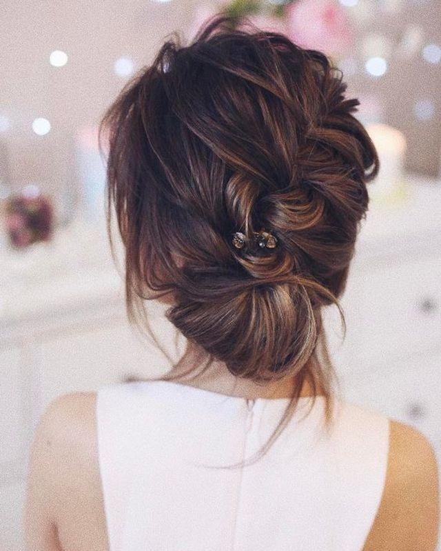 soft braided wedding updo 2018 bridal hair trends