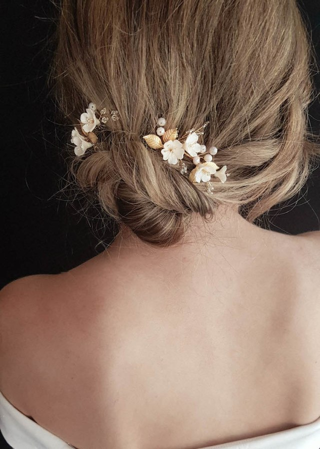 apple blossom | bridal hair pieces