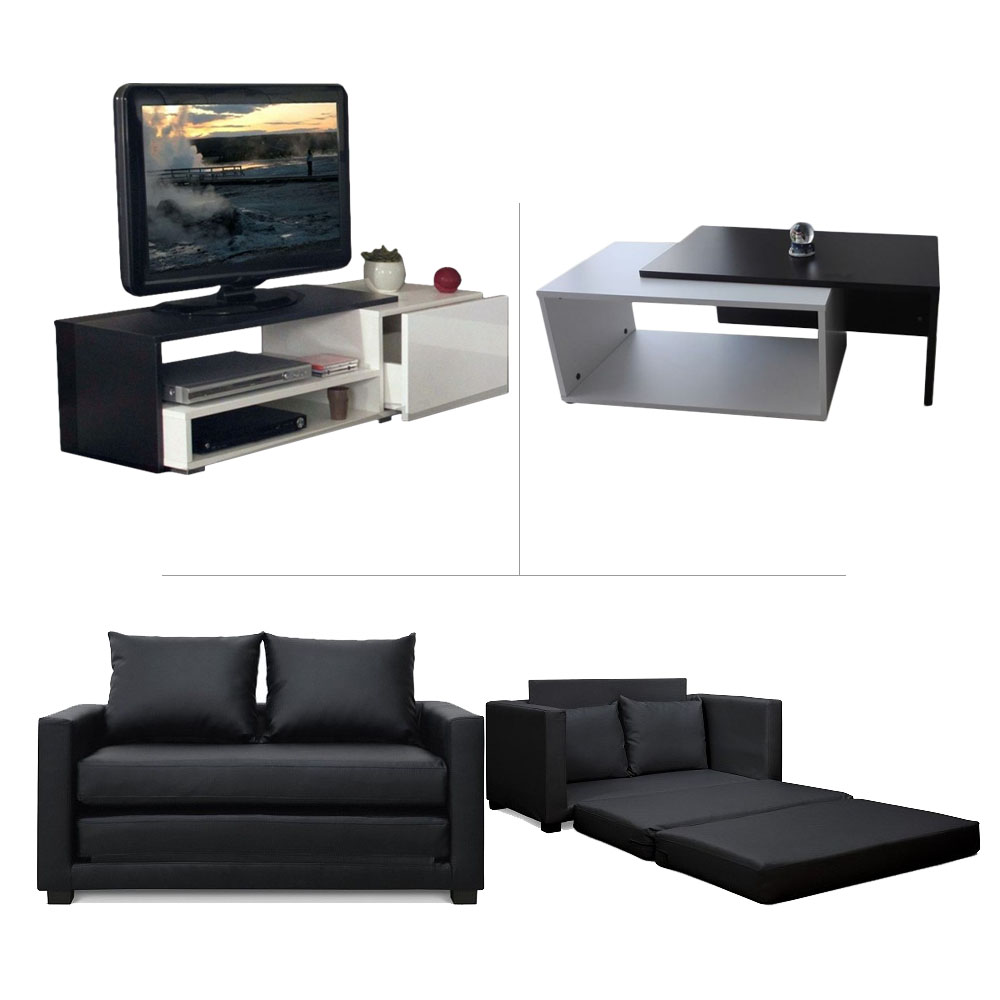 pack living room meuble tv canape