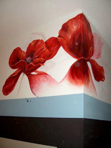 Muurschildering in uitgaansgelegenheid/ zalencentrum te Culemborg i.s.m. Marinde Molendijk (Ultramarinde)