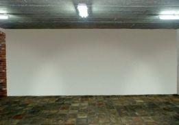 De muur in de wijnkelder waar de schildering op gemaakt gaat worden