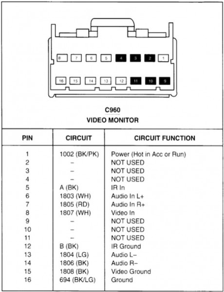 16 pin wire harness diagram  johnson outboard ignition