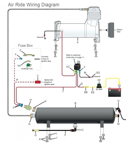 wiring air ride compressor wiring diagram starter hd version