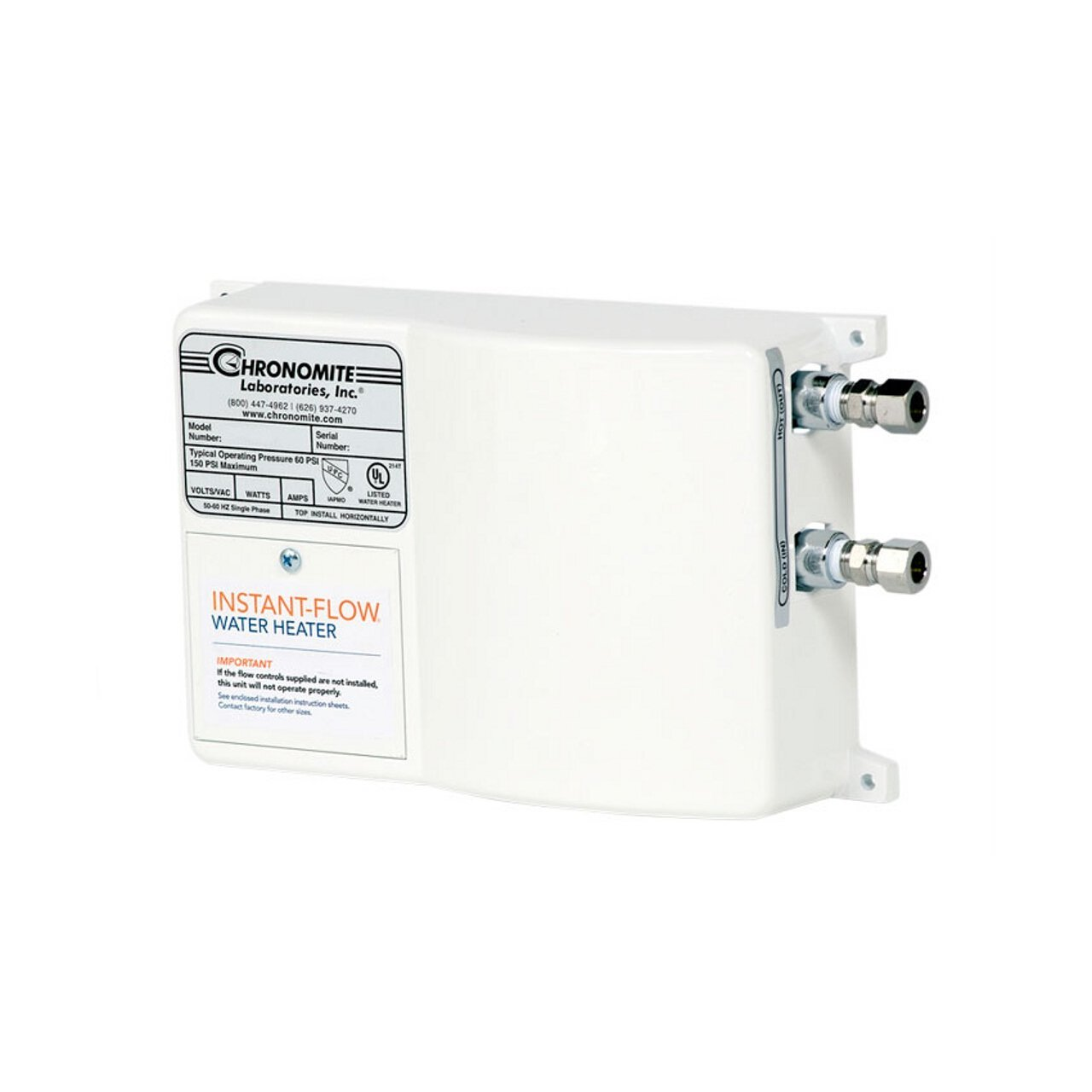 Chronomite SR-20L HTR 240-Volt Low Flow Tankless Water Heater
