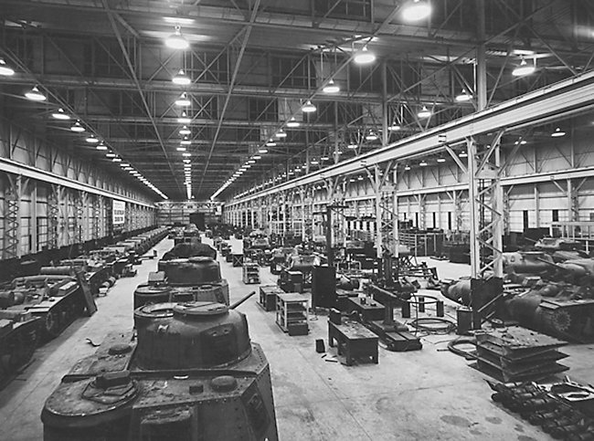 Chullora Tank Assembly Workshop, January 1943
