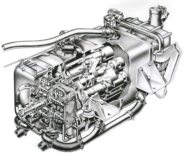 600 horsepower crankless tank engine