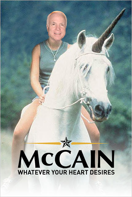 McCain and his imaginary friend.