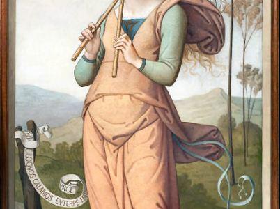 Euterpe, la musa della poesia lirica e della musica