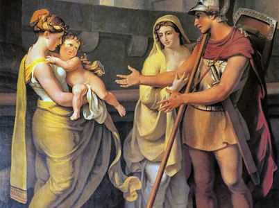Ettore, eroe intimo e modesto contemporaneamente guerriero e padre