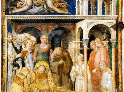 Simone Martini, 10 affreschi della Cappella di San Martino (Assisi)