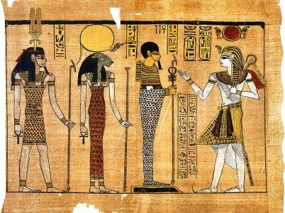 """Sekhmet """"la potente"""", divinità della guerra, delle epidemie e delle guarigioni."""