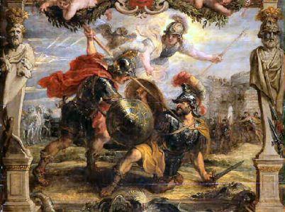 Deifobo, un insigne guerriero troiano.