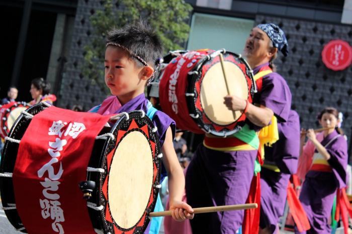 La parade Oedo Kakki de Nihonbashi-Kyobashi