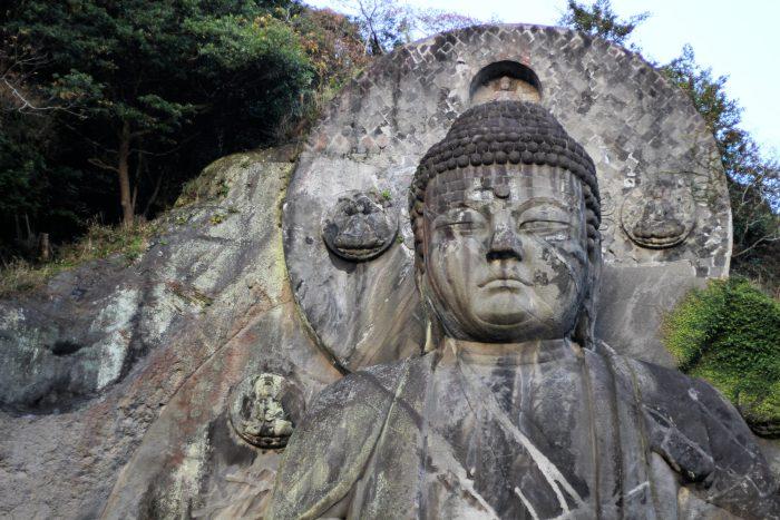Bouddha géant et Minecraft en vrai, au Mont Nokogiri
