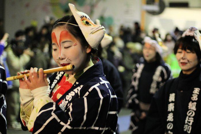La Parade des Renards du Nouvel An, à Oji