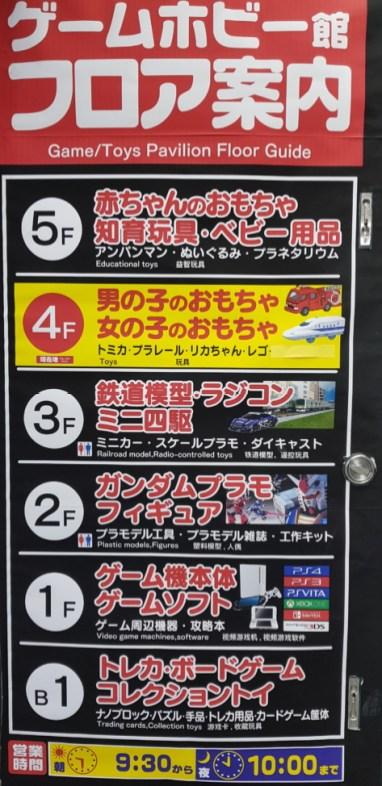 Contenu du Yodobashi Jouets et Jeux