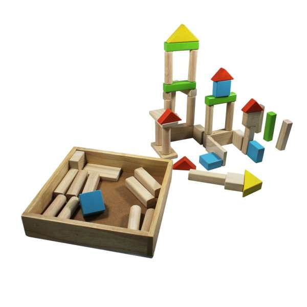 50 Wooden Blocks with Tray 2