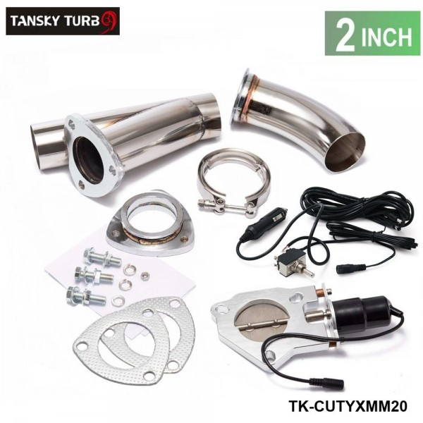 2 electric exhaust catback downpipe