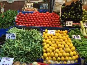 Seasonal fresh vegetables