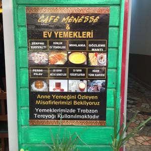 Cafe Menesse menu