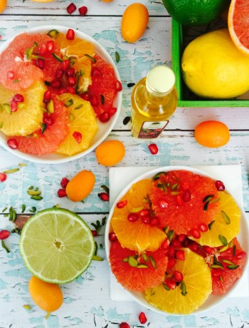 Citrus salad with pistachio and pomegranate 1