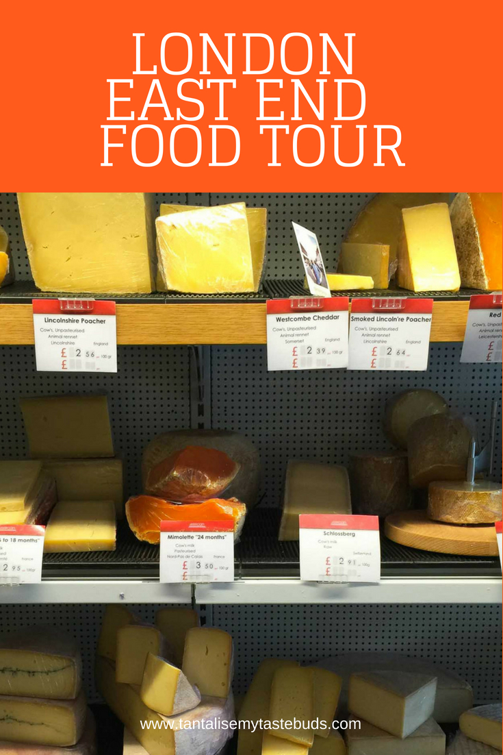 Androuet Cheese room on London East End food tour