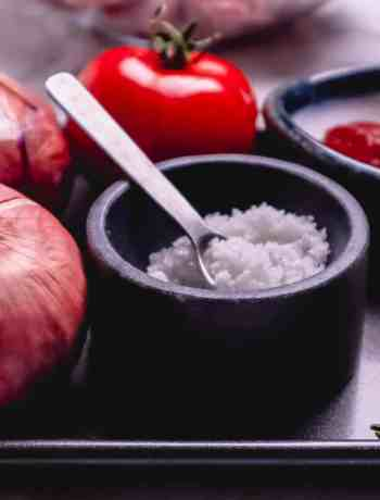 Vegetables for Cape Malay Sugar Bean bredie
