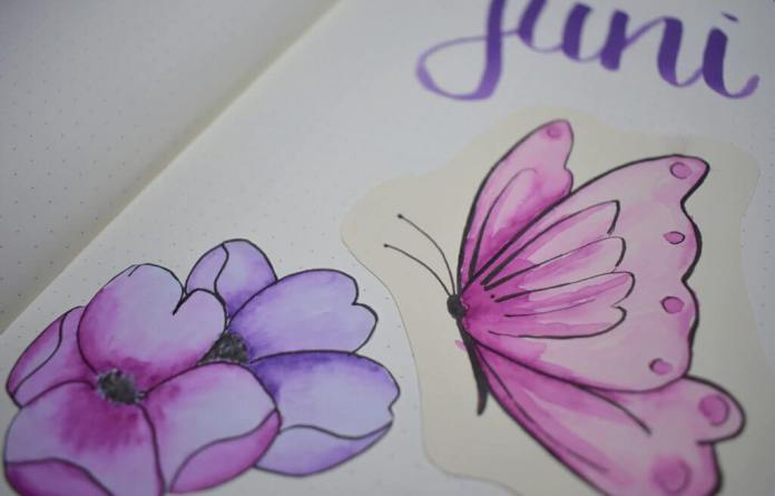 bullet journal setup voor juni