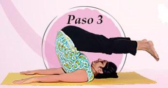 Tercera posición Halasana
