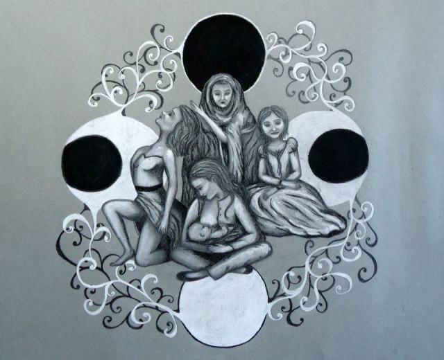 Dibujo encontrado en Hijas de Gaia