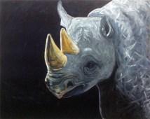 Rhino, huile sur toile