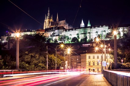 Prague castle at night photographed by Fine Art Photographer Tanya Antalikova