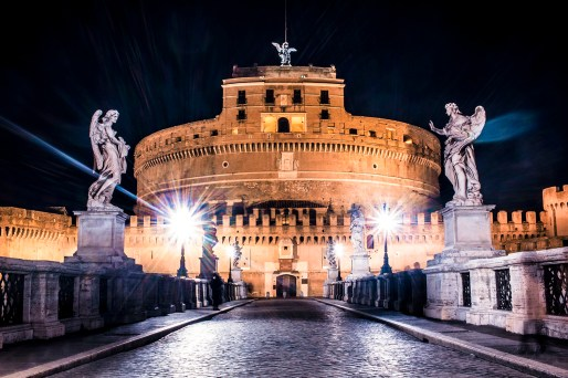Famous Saint Angelo castle in Rome, Italy photographed by Landscape, Cityscape and Fine Art Photographer Tanya Antalikova.