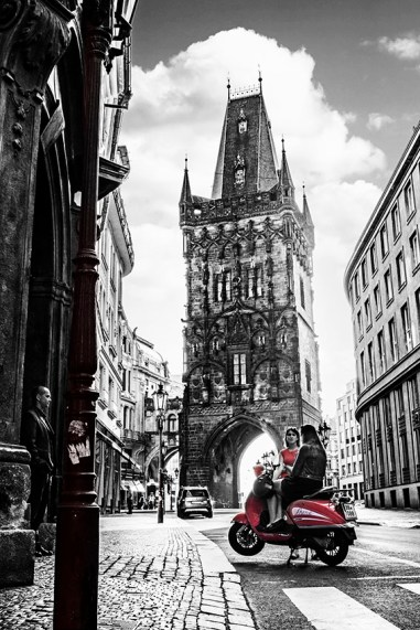 Prague tower photographed by Fine Art Photographer Tanya Antalikova