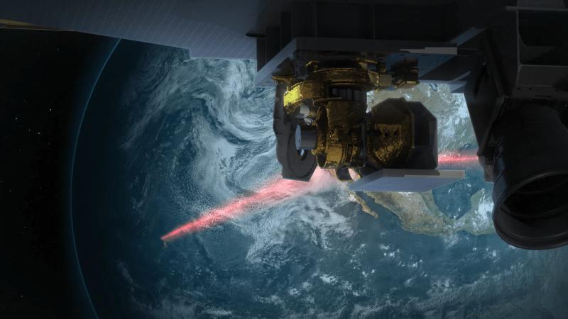 NASA artist's rendering of laser communications