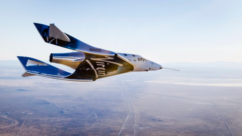 Virgin Galactic Unity Spacecraft in flight