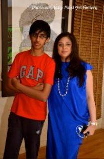 Tulika and her son Aranya