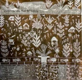 Warli Painting by Jivya Soma Mashe_Must Art Gallery
