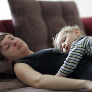 mom & child sleeping