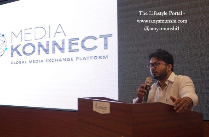 Spokesperson of Media Konnect addressing the bloggers