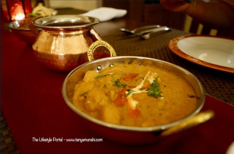 Waterchesnut & Bamboo Curry at Baluchi, The LaLit