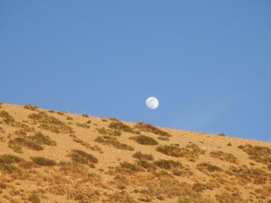 Day time moon at Lake Mansarovar