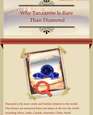 Why Tanzanite is Rare Than Diamond info graphic