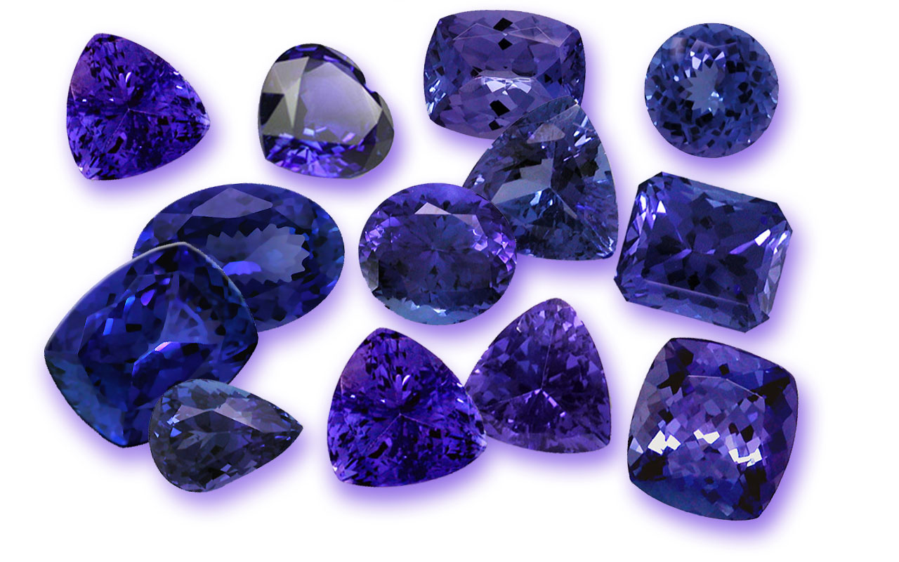 Tanzanite grading system and color scale loose wholesale gemstones nvjuhfo Choice Image
