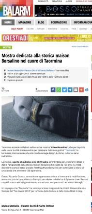 Mostra dedicata alla storica maison Borsalino nel cuore di Taormina (2018-07-29 20-02-21)
