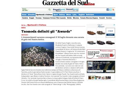 Taomoda definiti gli Awards - GazzettaDelSud