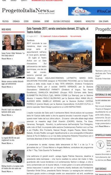 progetto italia news
