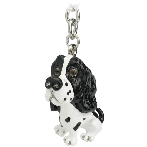 Little Paws by Arora Design Keyring with charm and trolley token at taos gifts