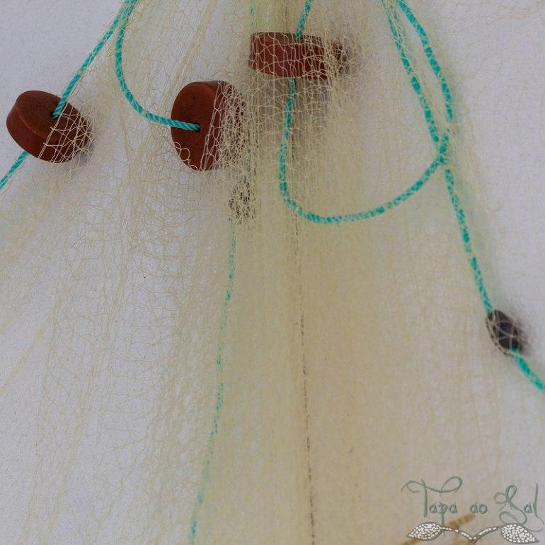 Redes de pesca na parede