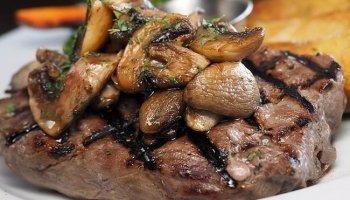 plato de lomo y champiñones